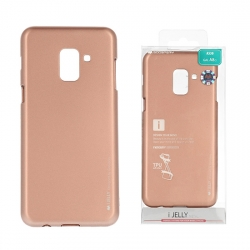 Samsung Galaxy A40, A405 Mercury i-Jelly szilikontok, rose gold